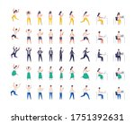 set of men and women in... | Shutterstock .eps vector #1751392631