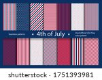 set usa background with... | Shutterstock .eps vector #1751393981