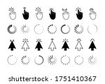 click icon with finger and... | Shutterstock .eps vector #1751410367