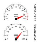 car speedometer. odometer on... | Shutterstock .eps vector #1751410397