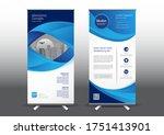 rollup template vector... | Shutterstock .eps vector #1751413901