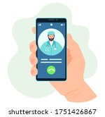 doctor's call on the phone.... | Shutterstock .eps vector #1751426867