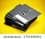5.25 Inch Floppy Disks Isolated ...