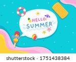 Illustration Vector Of Summer...
