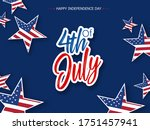 happy usa independence day 4 th ... | Shutterstock .eps vector #1751457941