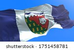 Northwest Territories flag - Canada - 3D realistic waving flag background