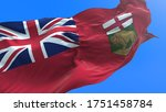 Manitoba flag - Canada - 3D realistic waving flag background