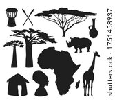 set of travel icons on the... | Shutterstock .eps vector #1751458937