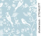 seamless pattern in oriental... | Shutterstock .eps vector #1751461577