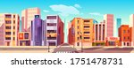 city street with houses  road... | Shutterstock .eps vector #1751478731
