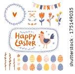 easter graphic clip art set | Shutterstock .eps vector #175149035
