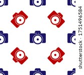 Blue And Red Photo Camera Icon...