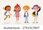 set of kids. children and... | Shutterstock .eps vector #1751517857