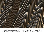 abstract futuristic 3d metal... | Shutterstock . vector #1751522984