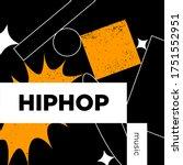 hiphop music playlist. vector ...