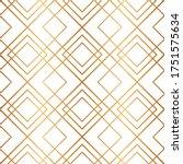 golden geometric seamless... | Shutterstock .eps vector #1751575634