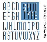 decorative vector font.... | Shutterstock .eps vector #175158941