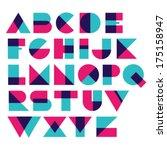 fun geometric font | Shutterstock .eps vector #175158947