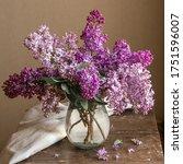 Fresh Lilac Bouquet In A...