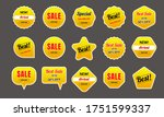 collection of yellow sales... | Shutterstock .eps vector #1751599337