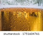 Water Drops On Glass Of Beer....