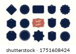 vector blank frames and badge... | Shutterstock .eps vector #1751608424