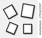 photo frames. collection photo... | Shutterstock .eps vector #1751611547