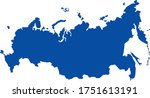 map of russia with crimea | Shutterstock .eps vector #1751613191