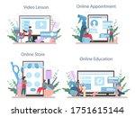 hairdresser online service or...   Shutterstock .eps vector #1751615144