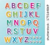 colorful paper capital alphabet ... | Shutterstock .eps vector #175164869