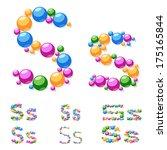 vector alphabet symbols of... | Shutterstock .eps vector #175165844