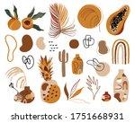 big summer set of hand drawn... | Shutterstock .eps vector #1751668931