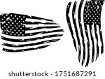 usa flag   distressed american... | Shutterstock .eps vector #1751687291