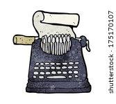 cartoon typewriter | Shutterstock . vector #175170107