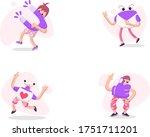 illustration set of social...