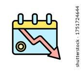 calendar arrow down coin icon....