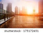 shanghai urban landscape in fog ... | Shutterstock . vector #175172651
