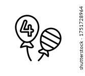 balloons usa 4th july icon....