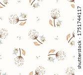 seamless background flower bug ...   Shutterstock .eps vector #1751744117