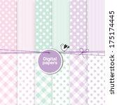 baby shower design elements  ... | Shutterstock .eps vector #175174445