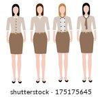 woman in uniform design | Shutterstock .eps vector #175175645