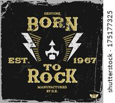 "vintage label ""born to rock""  t ... 