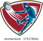 illustration of a rugby player... | Shutterstock .eps vector #175178561