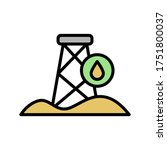 desert  oil derrick icon....