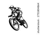 mountain bike downhill logo...   Shutterstock .eps vector #1751804864