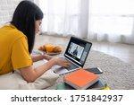 asian female student video... | Shutterstock . vector #1751842937