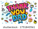 fathers day concept. thank you... | Shutterstock .eps vector #1751843561