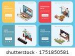 online presentation concept set ...   Shutterstock .eps vector #1751850581