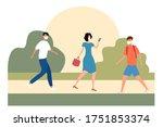 modern flat illustration of... | Shutterstock .eps vector #1751853374