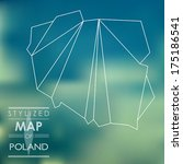 map of poland. map concept | Shutterstock .eps vector #175186541